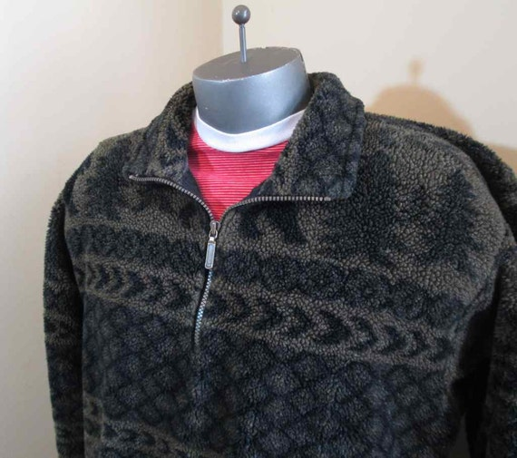 Vintage Deep Pile Fleece Jacket 90s fleece Pullover Bear and