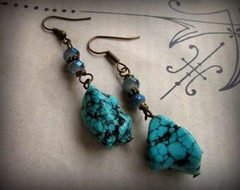 Boho Turquoise Earrings