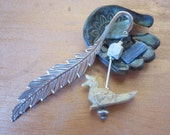 peacock bookmark - metal ...