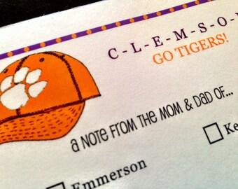 Clemson Tigers Note to Teacher Parent Teacher Notepad