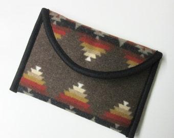 iPad Mini Cover Sleeve Ipad Case Wool Blanket Padded Southwestern Print Wool Tribal Inspired Pacific Crest