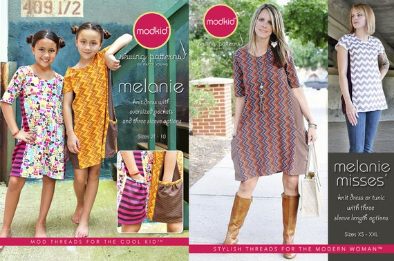 Melanie Girls and Misses PDF Pattern Bundle by MODKID - Instant Digital Download - Buy 2 and SAVE!