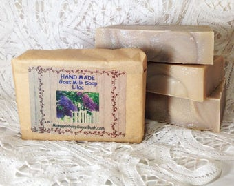 Goat Milk Soap, Lilac Soap, Cold Process soap, Spring scented soap, artisan soap, Handmade soap, Goats milk soap, Moeggenborg Sugar Bush