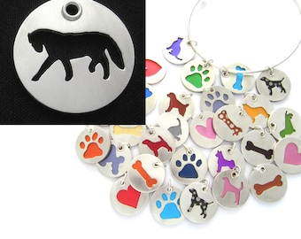 Andalusian Horse Sterling Silver Necklace Pendant Charm - Lots of Colors