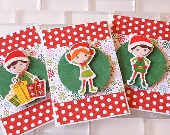 Little Elf Helpers Mini Note Cards, Set of 3