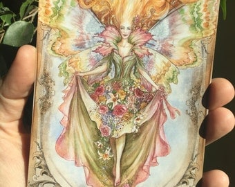 Mayday faerie, Post Card by Renae Taylor