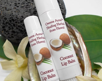 Lip Balm, Coconut Lip Balm - Twist Up Tube, Lips, Lip Balm, Dry Lips, Chapped Lips, Lip Balm in a Tube, Hawaii
