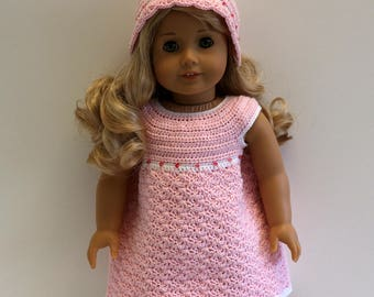 """Instant Download - 18"""" Doll Pattern 4 - Adorable Dress and Hat"""