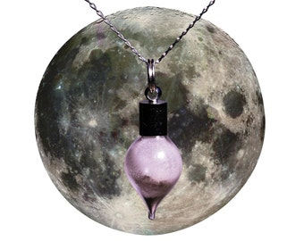 STUNNING Moon Dust Necklace -Wear A Real Piece Of The Moon- Solid Silver Chain