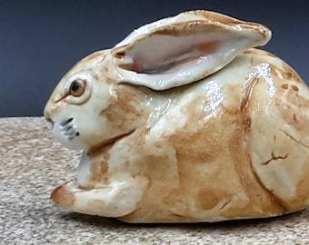 Little Porcelain Rabbit - small bunny sculpture - original art