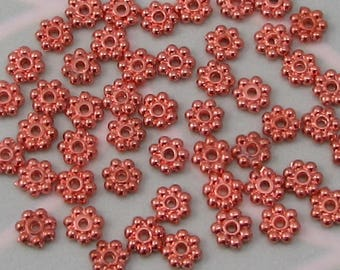 Rose Gold Bali Style Spacer Beads, 4.75 MM, 50 pieces, RG36