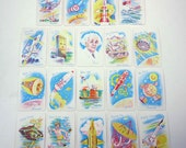 Vintage 1960s Space Age Old Maid Playing Cards for Children Including Anthropomorphic Images Set of 19