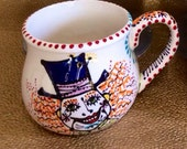 Mad Hatter Mug with We are All Mad Here Quote