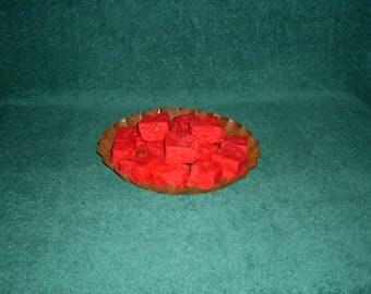 Primitive Wax  Watermelon Chunks Tarts Bowl Fillers Pink Watermelon
