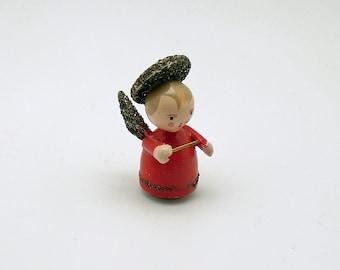 Vintage Christmas Decoration Angel Figurine Wood Angel Italy