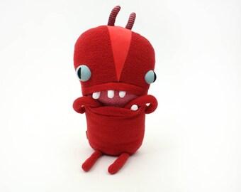 """Monster Plush Stuffed """"Rew"""" Mini Pocket Cotton Monster"""