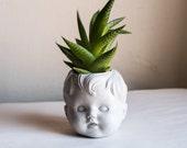 Boy Doll Head Planter