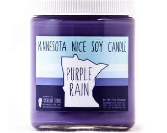 Purple Rain - Minnesota Nice Candle - Scented Soy Candle -  8oz jar - SALE
