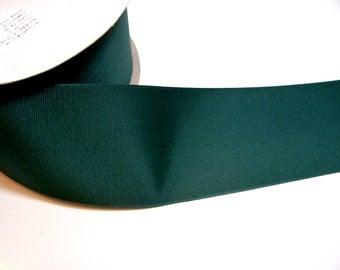 Wide Green Ribbon, Offray Jungle Green Grosgrain Ribbon 3 inches wide x 3 yards, Dark Green