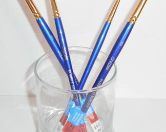 New Lot of Robert Simmons Watercolor Paint Brushes ,Large Lot of Sapphire Watercolor Brushes,Very Nice Brush Lot for Craft Painting