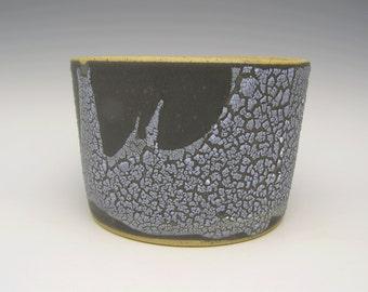 Handmade Contemporary ceramic planter succulent pot modern Planter stoneware planter Herb planter pot  black and white 6 1/4 x 4 1/2 scp53