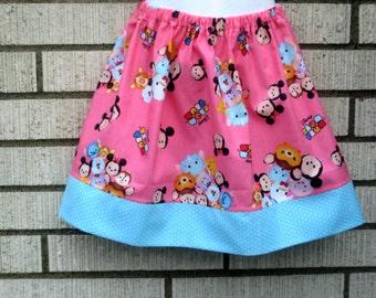 Pink Tsum Tsum disney skirt , 6M to size 8
