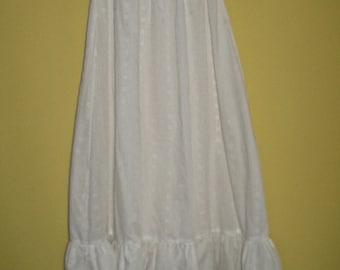 eyelet slip . eyelet petticoat . cotton slip . white cotton slip . half cotton slip