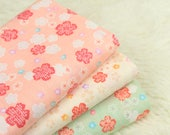 4509 - Cherry Blossom Japanese Import Cotton Fabric - 43 Inch (Width) x 1/2 Yard (Length)