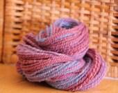 Purple Multi-Color 2-ply Handspun Yarn Finnish Landrace Wool Hand Dyed