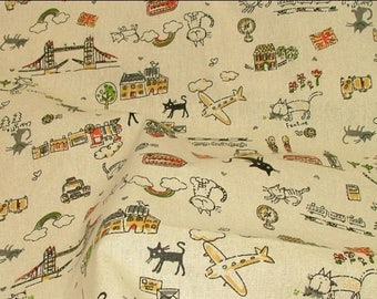 Fat Quarter Fabric - Cats on Holiday