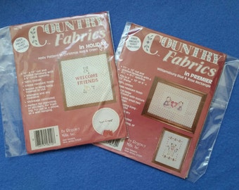 Country Fabrics in Holiday or in Premier, Vintage Printed Osnaburg with Opening by Regency Mills
