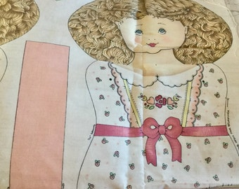 Mary Jane  Doll  Panel Cotton with instructions  included