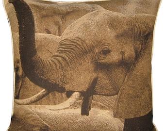 Savannah Elephant Tapestry Cushion Cover Sham