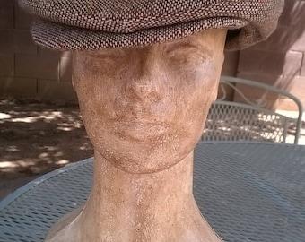 Vintage Brown Newsboy Cap