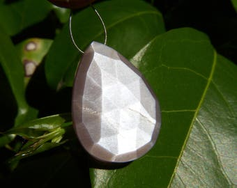Taupe Moonstone Faceted Drop - Focal - 17x23.5mm