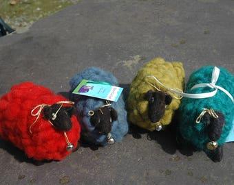 Needle Felted Lamb Felt Irish Sheep Hand Dyed Colors