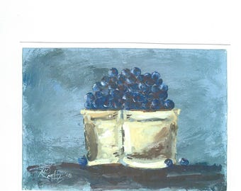 Pint Of Blueberries  5x7 print by Jim Smeltz