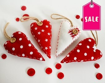 Heart Valentines Decorations, Christmas Tree Decorations, Tree Decoration Set, Xmas Decorations, Christmas Ornaments