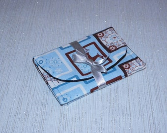 Frosty Blue Snowflakes and Reindeer Gift Card Holder Case Set of Two