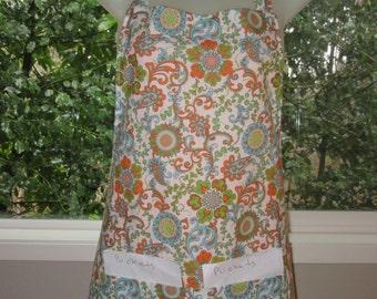 womens aprons_full aprons_aprons_beautiful paisley floral