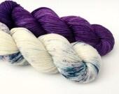STAR DUST KIT - Hand Dyed Yarn - Sparkle Sock Yarn Fingering - Ready to Ship - Vivid Yarn Studio