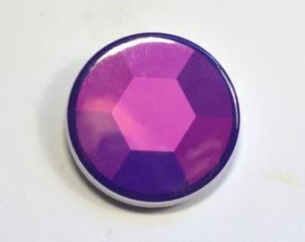 Steven Universe Amethyst Gem Pinback Button Badge