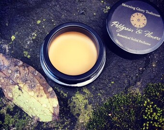 Petitgrain & Flowers Botanical Solid Perfume ~ aromatic citrus, orange blossom, leaves and wood over a dark base of patchouli and earth