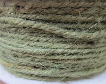 10 Yards Olive Green Twisted Burlap Jute Twine