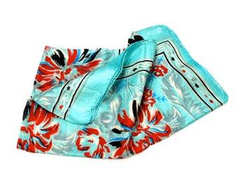 70's block print scarf // deadstock indian silk