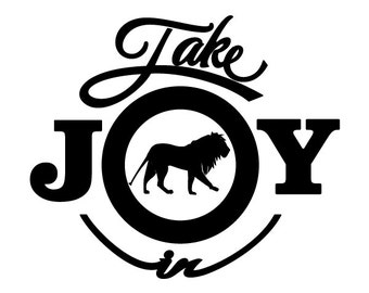 Take Joy In Lions Decal