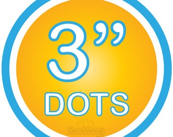 """3 inch Polka Dot Circles Wall Decals - Choose colors - Mix and Match dots vinyl stickers 3"""" three"""