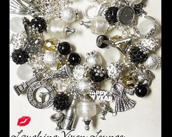 New Years Jewelry - Christmas Bracelet - New Years Necklace - Christmas Necklace - New Years Eve Bracelet - New Years Charm Bracelet
