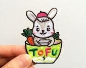 Bunny Tofu Iron On Patch