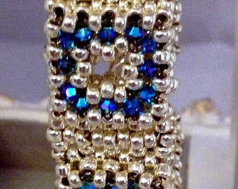 Block Party Beadwoven Bracelet,Handmade